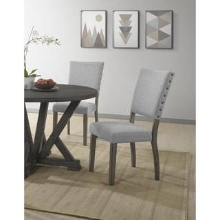 Best Master Furniture Antique Light Gray Side Chair (Set of 2)