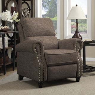Copper Grove Jessie Brown Linen Push Back Recliner Chair