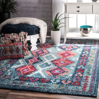 The Curated Nomad Cabrillo Tribal Diamond Area Rug