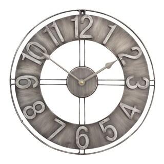 Studio Designs Home 15-Inch Industrial Loft Metal Wall Clock