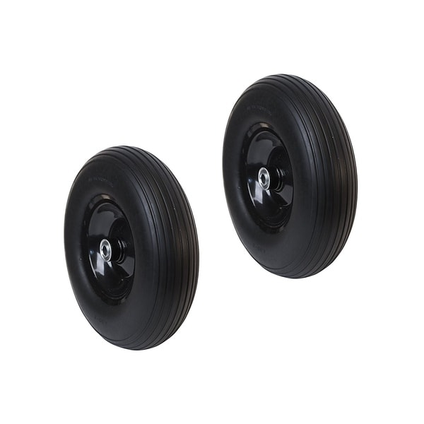 ALEKO Flat Free Replacement Wheels 13 Inch for Wheelbarrow Set of 2 34338070
