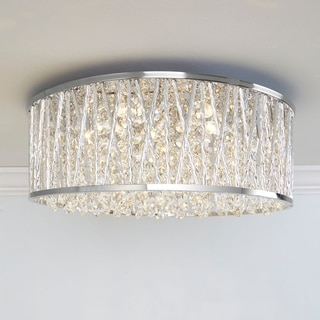 Collins Laser Cut Aluminum and Crystal LED Ceiling Light