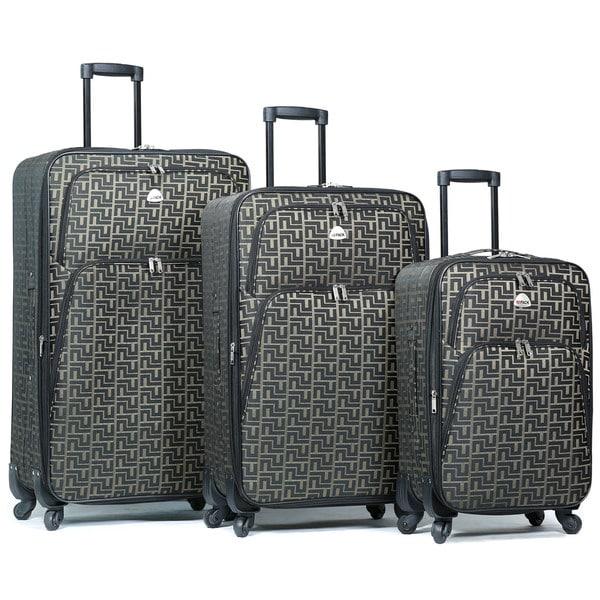 World Traveler Signature Designer Print 3-Piece Expandable Spinner Luggage Set 34354809