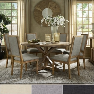 Deana Round Dining Set with Rectangular Back Chairs by iNSPIRE Q Artisan