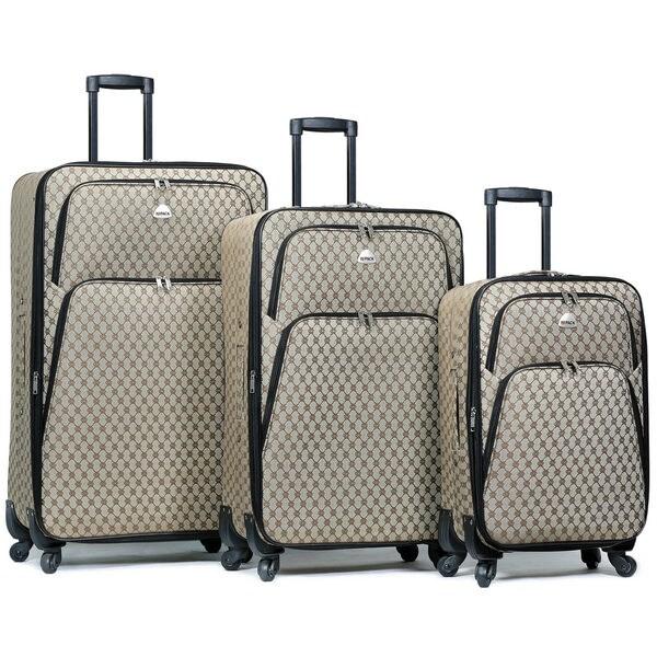 World Traveler Signature 3-Piece Expandable Spinner Luggage Set 34357039