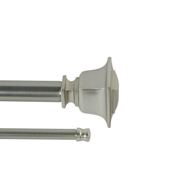 Little Elm Adjustable Double Curtain Rod Brushed Nickel 36-72 inches (As Is Item) 34357229