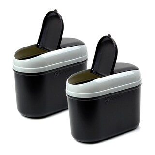 Zone Tech Universal Traveling Portable Car Trash Can - Black Premium Quality Vehicle Trash Bin