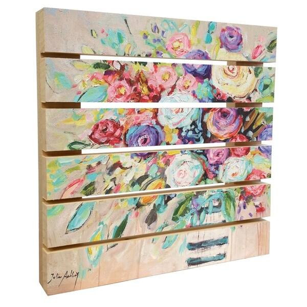 ArtWall Jolina Anthony 'Vibrant Bouquet' Wood Pallet Art 34371096