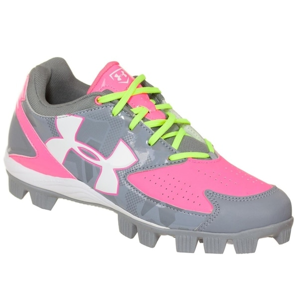 Under Armour Glyde RM Women's Baseball Fastpitch Cleats Grey/Pink 34371195