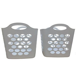 Square Basket White, 2 Pack