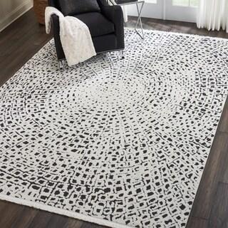 Nourison Kamala Moroccan Spiral Fringe Area Rug