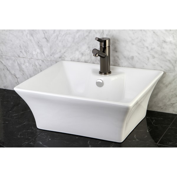 White Vitreous China Vessel Sink