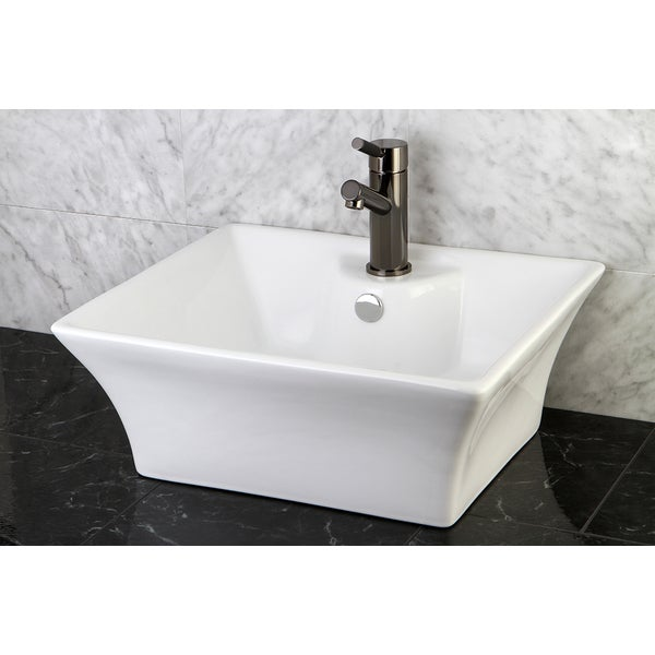 White Vitreous China Vessel Sink - 10367909 - Overstock.com Shopping ...
