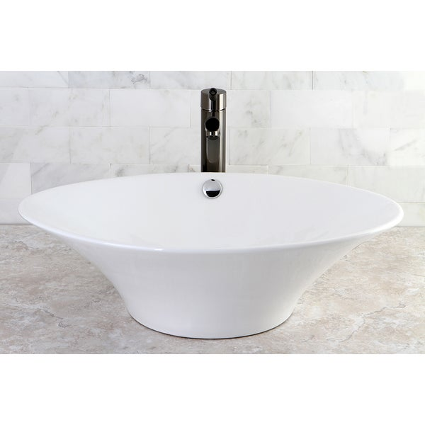 White Vessel Lavatory Sink - 10367945 - Overstock.com Shopping - Great ...