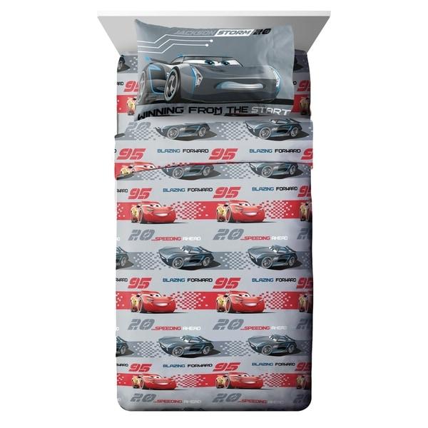 Disney/Pixar Cars 3 Movie Editorial Gray/Red 3 Piece Twin Sheet Set 34475284