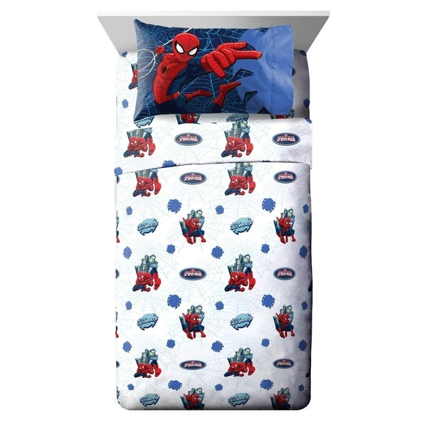 Marvel Spiderman Astonish 4 Piece Full Sheet Set 34475297