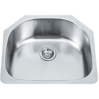 24-inch Undermount Stainless Steel 18 Gauge Single Bowl Kitchen Sink