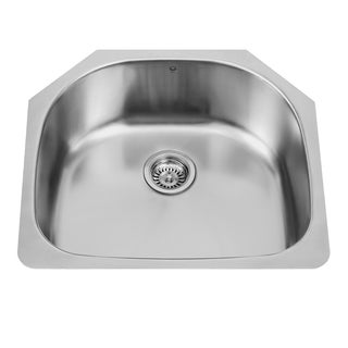 VIGO 24-inch Undermount Stainless Steel 18 Gauge Single Bowl Kitchen Sink