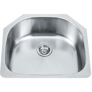 VIGO 24-inch Undermount Stainless Steel 18 Gauge Single Bowl Kitchen Sink