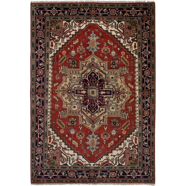 eCarpetGallery Hand-knotted Serapi Heritage Red Wool Rug - 6'1 x 8'11 34527522