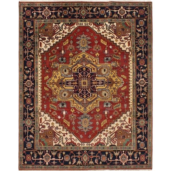 eCarpetGallery Hand-knotted Serapi Heritage Dark Red Wool Rug - 8'1 x 10'2 34527549