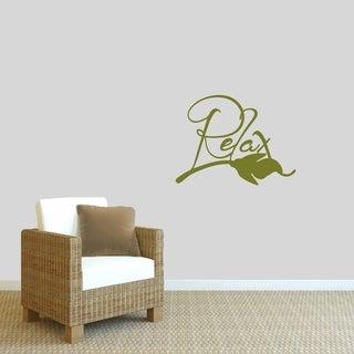 Relax Wall Decal - MEDIUM