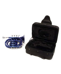 School Band Blue Pocket Trumpet