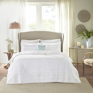 Copper Grove Burwell White Coverlet Set