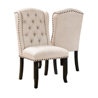 Furniture Of America Telara Tufted Wingback Dining Cha