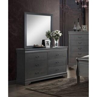 Furniture of America Devi Grey 2-piece Dresser and Mirror Set
