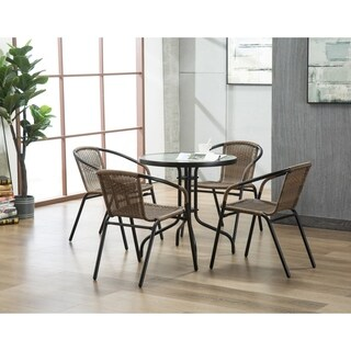 The Curated Nomad Clopin Rattan Indoor/Outdoor Dining Chairs (Set of 2)