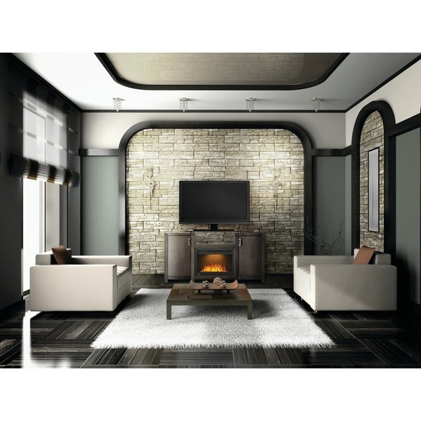 Napoleon Whitney Electric Fireplace TV Stand with Cinema Glass 24-inch Fireplace Box 34542735