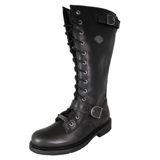Harley Davidson Womens Jill Tall Lace Up Motorcycle Boots