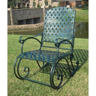 Trend  Compare International Caravan Diamond Lattice Outdoor Rocking Chair Compare