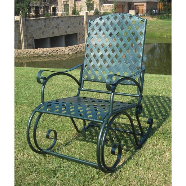 International Caravan Diamond Lattice Outdoor Rocking Chair
