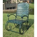 International Caravan Diamond Lattice Outdoor Rocking Chair