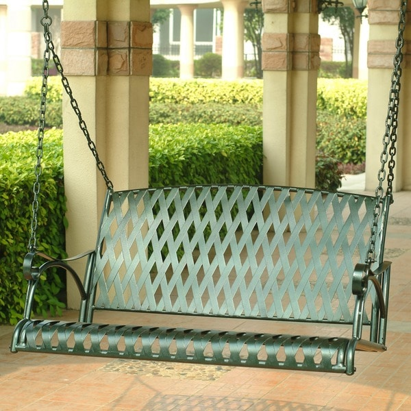 International Caravan Diamond Lattice Porch Swing
