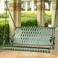 International Caravan Diamond Lattice Porch Swing