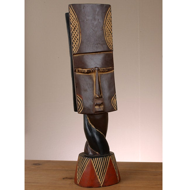 Handmade Nkyim Mask (Ghana)