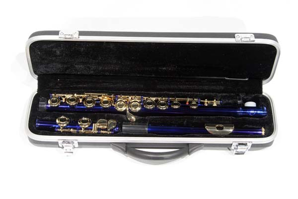 Blue and Gold School Band Flute