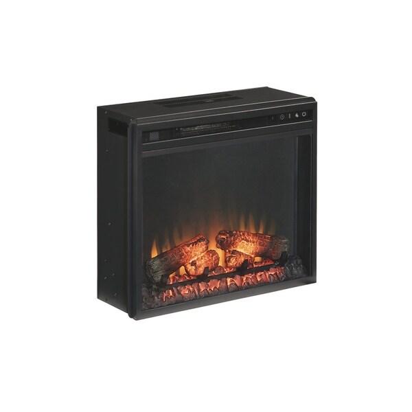 Entertainment Accessories - Media Fireplace Insert, Black 34567094