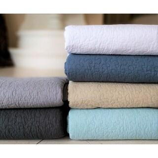 French Impression Jigsaw Cotton 3pc Oversized Quilt Set