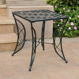 International Caravan Iron Diamond Lattice Side Table