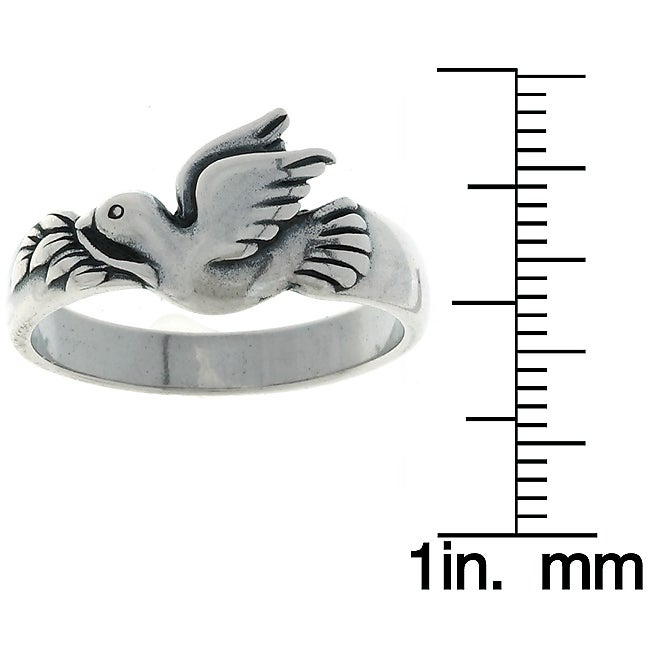 CGC Sterling Silver Dove Ring