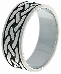 CGC Sterling Silver Traditional Celtic Ring