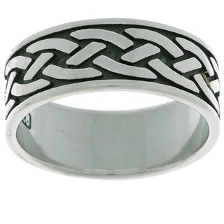 Jewelry Trends Sterling Silver Traditional Celtic Ring