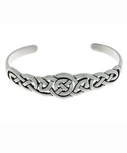 CGC Sterling Silver Celtic Bangle