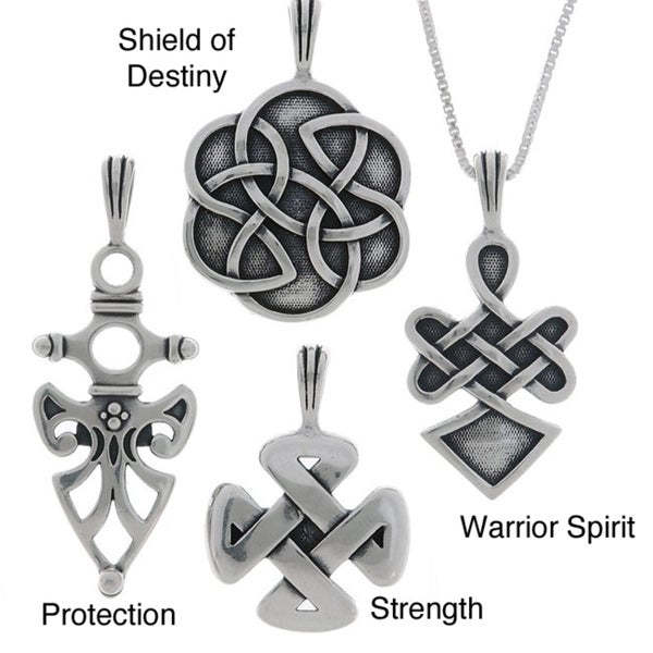 Jewelry Trends Sterling Silver Celtic Protection Pendants (Options)