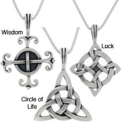 Jewelry Trends Choice of Sterling Silver Celtic Luck Necklaces