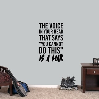 The Voice in Your Head Wall Decal - MEDIUM